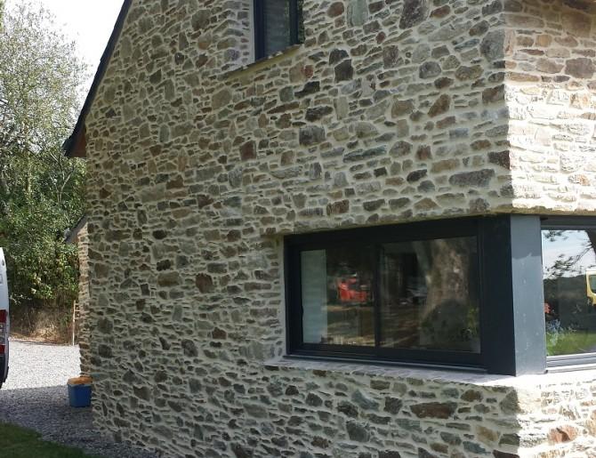 Facade longere trendy renovated longere with facade for Renovation longere