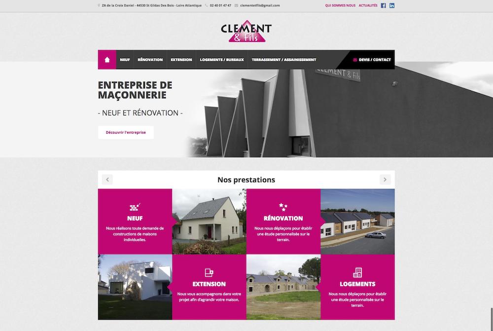 Le nouveau site de clément et Fils .com